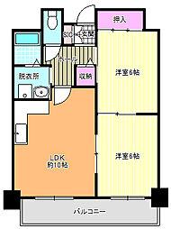 ロイヤルヒルズ5番館[8階]の間取り