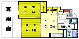 ソーレアロッジオIII[1階]の間取り