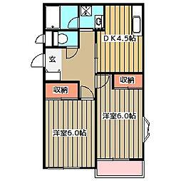 K'Sハウス[105号室]の間取り