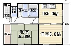 ハイタウン日吉町[2階]の間取り
