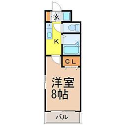愛知県名古屋市昭和区檀溪通2丁目の賃貸マンションの間取り