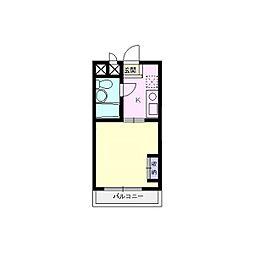 エマーユ川越脇田[201号室]の間取り
