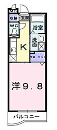 埼玉県所沢市泉町の賃貸マンションの間取り