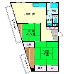 美野島ビル[3階]の間取り