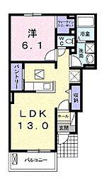 レイナコート607[1階]の間取り