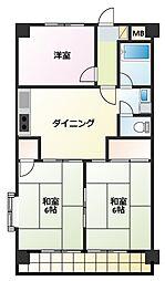 プランタン宮根台[3階]の間取り