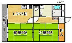 ハイネスライフ住之江[1階]の間取り