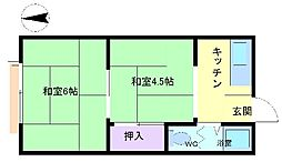 大宮マンション[3階]の間取り