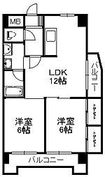 小倉第一鳳城ビル[6階]の間取り