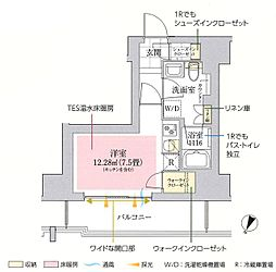 東京メトロ丸ノ内線 御茶ノ水駅 徒歩10分の賃貸マンション 8階ワンルームの間取り