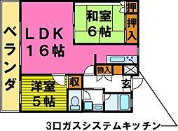 清川六番館[2階]の間取り
