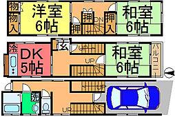 [一戸建] 東京都江戸川区本一色1丁目 の賃貸【/】の間取り