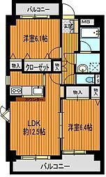 第6田中ビル[2階]の間取り