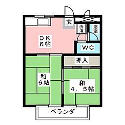 コーポ北宿[2階]の間取り