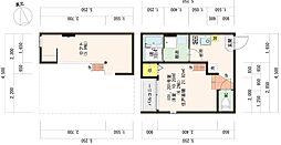 ハーモニーテラス東大阪荒本2丁目A[101号室]の間取り