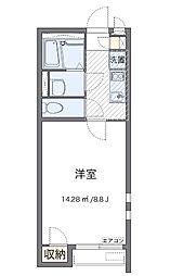 小田急小田原線 鶴川駅 バス12分 妙福寺前下車 徒歩3分の賃貸アパート 1階1Kの間取り