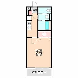 阪急宝塚本線 石橋阪大前駅 徒歩7分の賃貸マンション 1階1Kの間取り