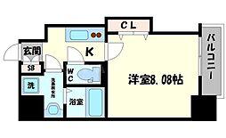 DwellingASAHI 8階1Kの間取り