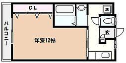 JR東海道・山陽本線 芦屋駅 徒歩15分の賃貸マンション 3階1Kの間取り