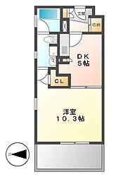KDXレジデンス東桜II[4階]の間取り