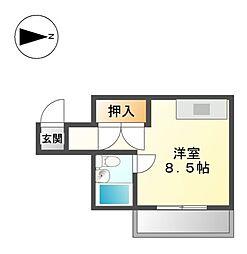 ブラウンハイツ[5階]の間取り