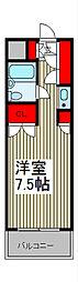 ワコーレ武蔵浦和[4階]の間取り