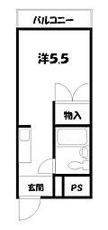 ソレーユー藤井[2階]の間取り
