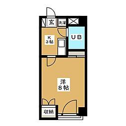 メゾンビッグバードC[1階]の間取り