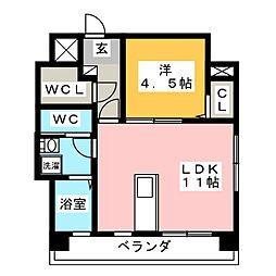 Vets U BLD[4階]の間取り