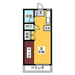 ドヌールKAWAKAMI[2階]の間取り