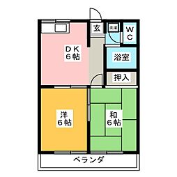 エステートピア旭B[2階]の間取り