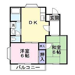 サンプラザ富士[2階]の間取り