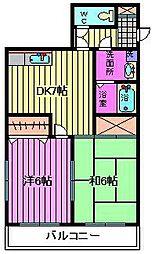 ビュープラザ斎藤II[205号室]の間取り