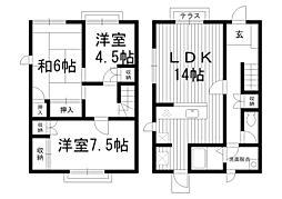 [テラスハウス] 東京都杉並区南荻窪1丁目 の賃貸【/】の間取り