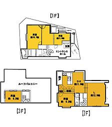 [一戸建] 東京都世田谷区船橋6丁目 の賃貸【/】の間取り