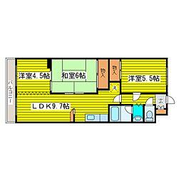 北海道札幌市東区北二十八条東14丁目の賃貸マンションの間取り