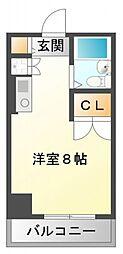 東明マンション江坂[3階]の間取り