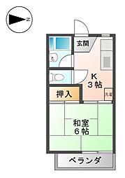 タウニー寿I[2階]の間取り