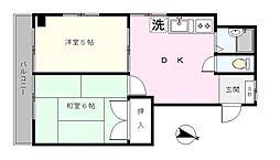 SHIMIZU.BLD.No.2[302号室]の間取り