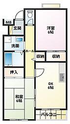 タウンハイツIII[2階]の間取り