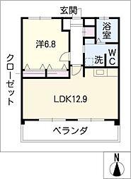 ルナ・ルーチェ[4階]の間取り