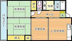 サンフル永犬丸A棟[3階]の間取り