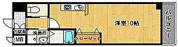 ファミール綾園[201号室]の間取り