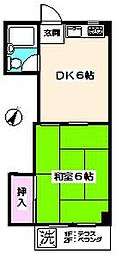 フラット石神井公園[2階]の間取り