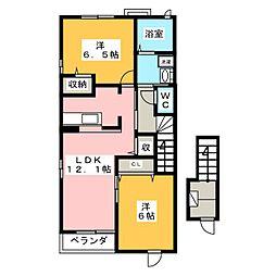 カーサ・ソーレ[2階]の間取り