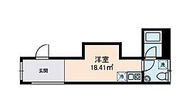 東京メトロ日比谷線 三ノ輪駅 徒歩4分の賃貸マンション 1階ワンルームの間取り