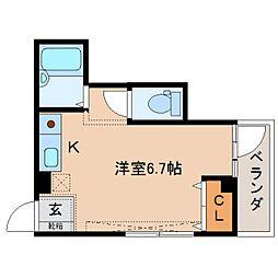 奈良県奈良市鍋屋町の賃貸マンションの間取り