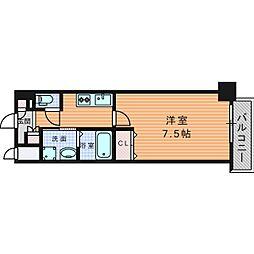 URBAN PARK 梅田WEST (アーバンパークウメダウ 13階1Kの間取り
