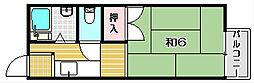 田畑コーポ3号館[2階]の間取り