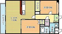 COMFORT・SQUARE安部山 (コンフォートスクエアア[402号室]の間取り